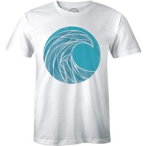Happiness Comes In Waves Life is Good Mens T-shirt